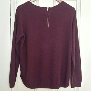 H&M Maroon Soft Back Zipper Sweater